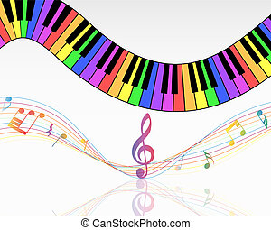 Musical note staff background. Vector illustration EPS 10...