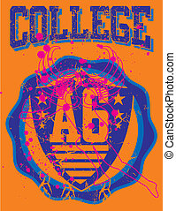 american college sports vector art