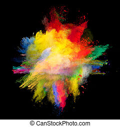 colored dust - Freeze motion of colored dust explosion...