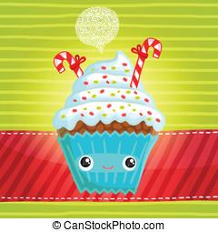 Smiling cupcake