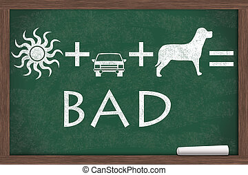 Do not leave your pet in a hot cat - Equation about not to...