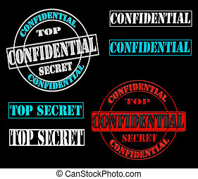 Top Secret Confidential Symbols
