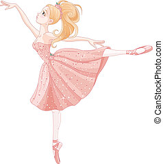 Dancing ballerina - Illustration of cute dancing ballerina