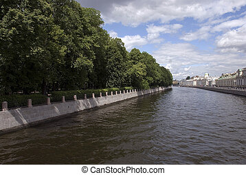 Fontanka - Saint-Petersburg, embankment of Fontanka river,...