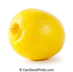 Ripe sour lemon isolated on a white background