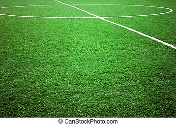 soccer or football theme - football grass background in...