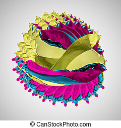 abstract multicolored creation, high-quality creative design...