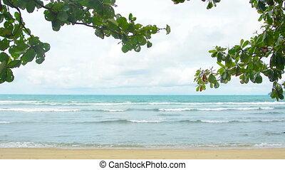 Deserted beach in Thailand Phuket Island