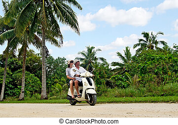 Transportation in Aitutaki Cook Islands - AITUTAKI - SEP...