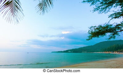 Thailand. Kamala Beach in the evening. at sunset