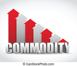 falling commodity red business graph illustration