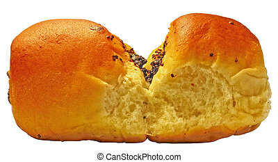 papaverous bun - Erotic papaverous bun on white background