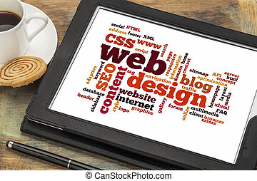 web design word or tag cloud - cloud of words or tags...