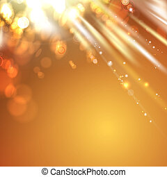 Orange light abstract background.  illustration.