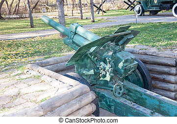 Howitzer model 1938 year, city of Orenburg, Southern Ural,...