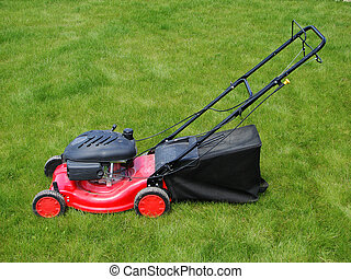 Lawn mower in the grass...
