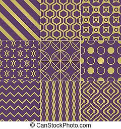 seamless purple gold pattern