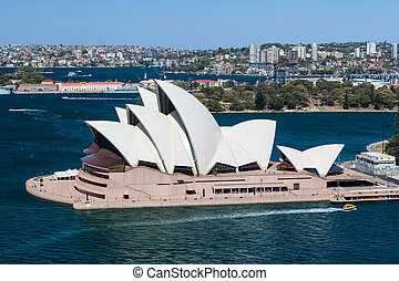 Sydney opera House Closeup - Sydney, Australia - October 16...