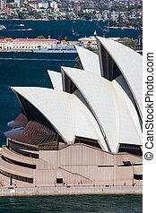 Sydney opera House Closeup - Sydney, Australia - October 16...