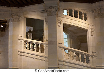 Chambord Castle, France Double helix staircase by Leonardo...