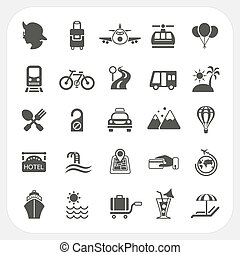 Travel and Transportation icon set, EPS10, Don't use...