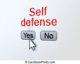 Safety concept: Self Defense on digital computer screen -...