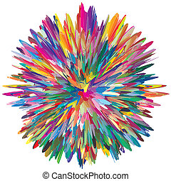Color Explosion - Symbol for creativity, spontaneity and...