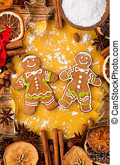 Traditional gingerbread - Gingerbread dought with cooked...