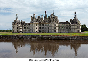 el, real, castillo, Chambord, Cher, Valle, francia