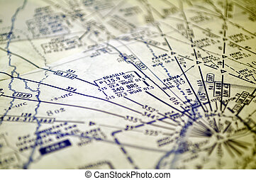 Air navigation: map of Brazil Brasilia area - Air navigation...