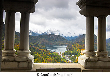 View of Schwangau from Neuschwanstein - Beautiful landscape...