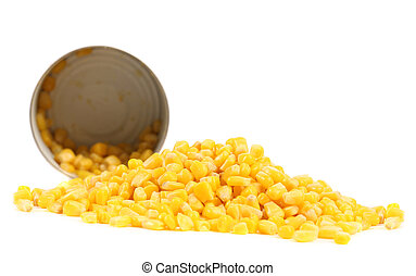 Fresh corn in can.