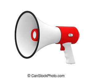 Loudspeaker or Megaphone Isolated - Loudspeaker or Megaphone...