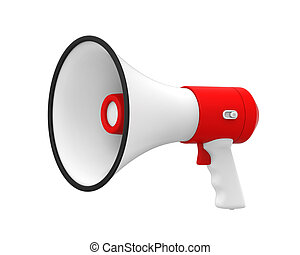 alto-falante, ou, megafone, isolado