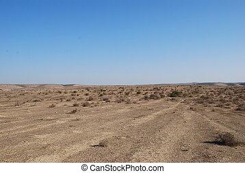 Desert Negev - Kind of dry desert under the  blue sky