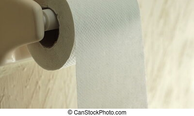Toilet Paper Time Lapse - Toilet paper being spun off of a...