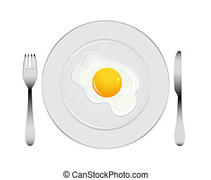 plate with egg
