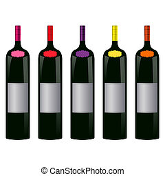 five bottles of wine