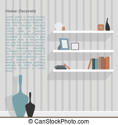 White shelf of interior decorate vector design