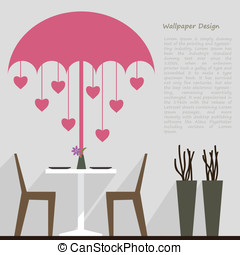 wallpaper pattern design for dining area decorate