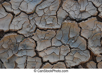 Cracked earth - Kind of cracked earth in dry desert