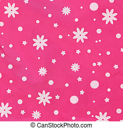 Pink texture with white snowflakes Whole background