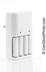 White Battery Charger - A White Battery Charger and...