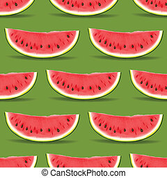 Watermelon seamless pattern, vector Eps10 illustration.