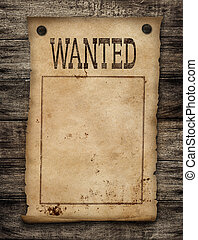 Wanted dead or live paper background Wild west poster