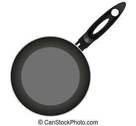 pan on a white background