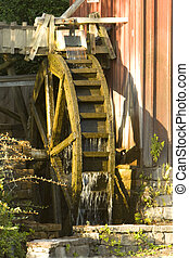 Watermill - watermill structure at the late afternoon...