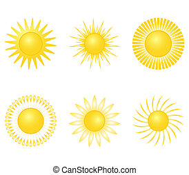 sun on a white background