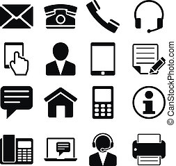Contact Us Icons Set