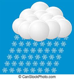 snow icon vector